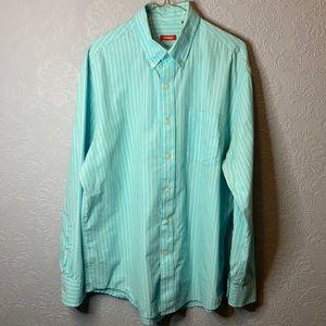 Izod blue and white pinstripe shirt